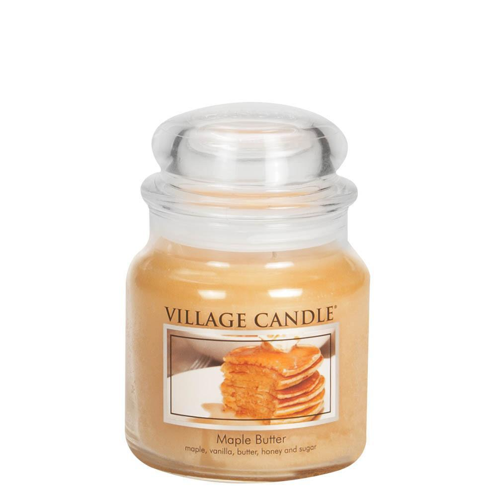 Maple Butter Medium Glass Jar Traditions Scented Candle