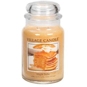 Maple Butter Large Glass Jar Traditions Scented Candle