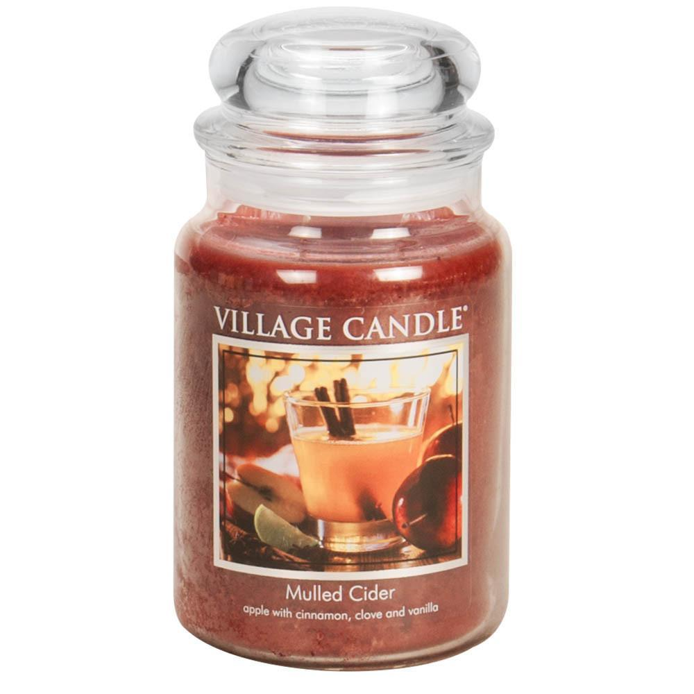 Mulled Cider Large Glass Jar Traditions Scented Candle