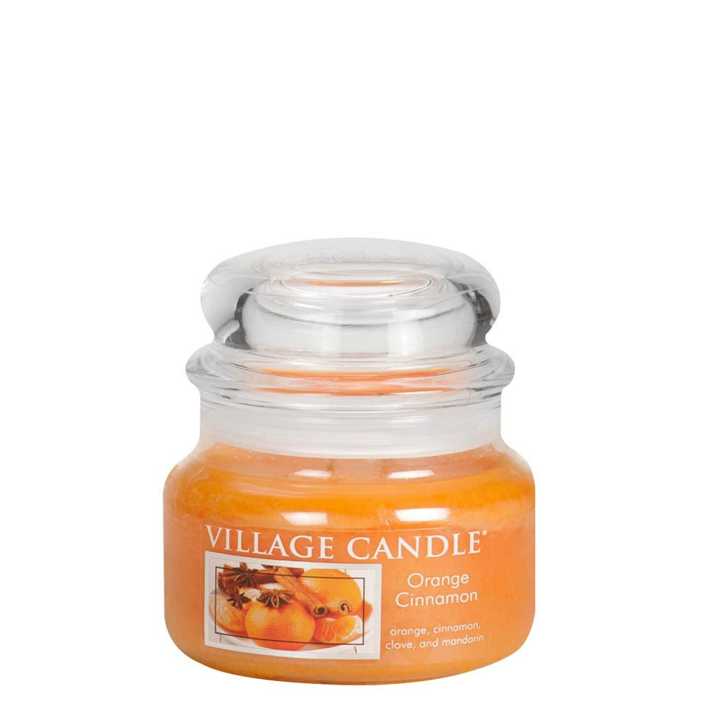 Orange Cinnamon Small Glass Jar Traditions Scented Candle