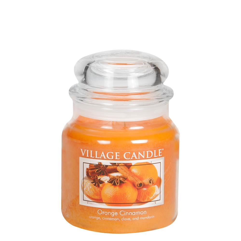 Orange Cinnamon Medium Glass Jar Traditions Scented Candle