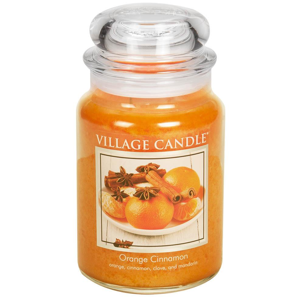 Orange Cinnamon Large Glass Jar Traditions Scented Candle