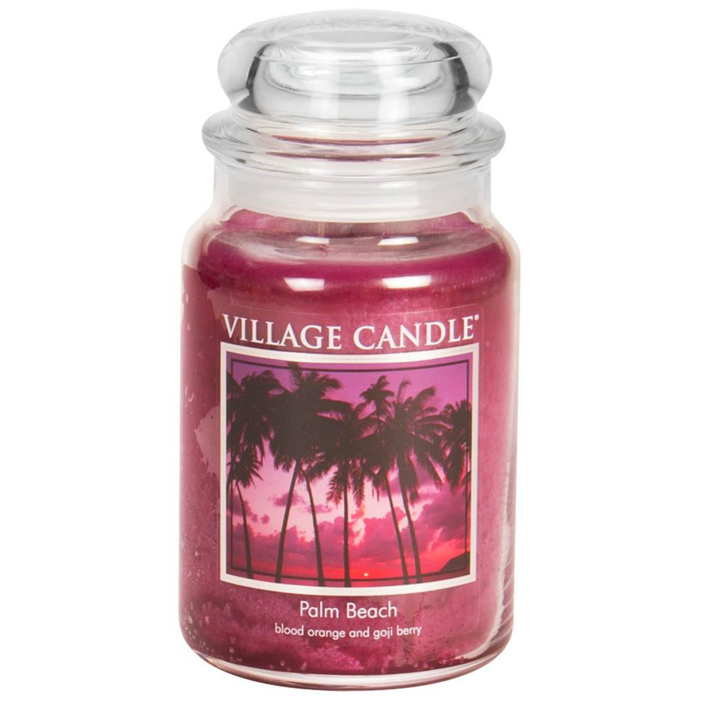 Palm Beach Large Glass Jar Traditions Scented Candle