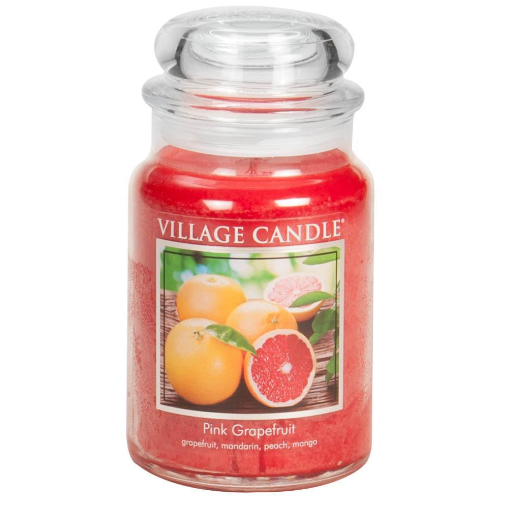 Pink Grapefruit Large Glass Jar Traditions Scented Candle