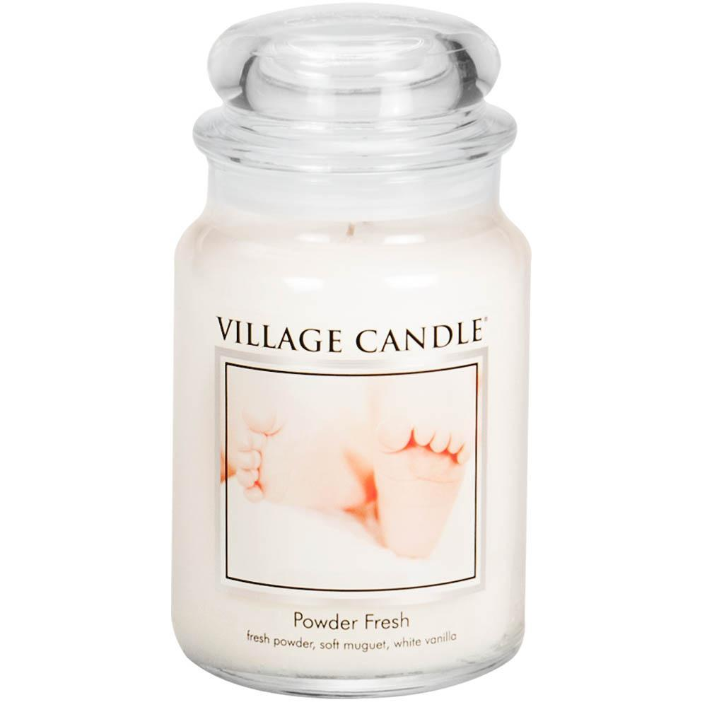 Powder Fresh Large Glass Jar Traditions Scented Candle