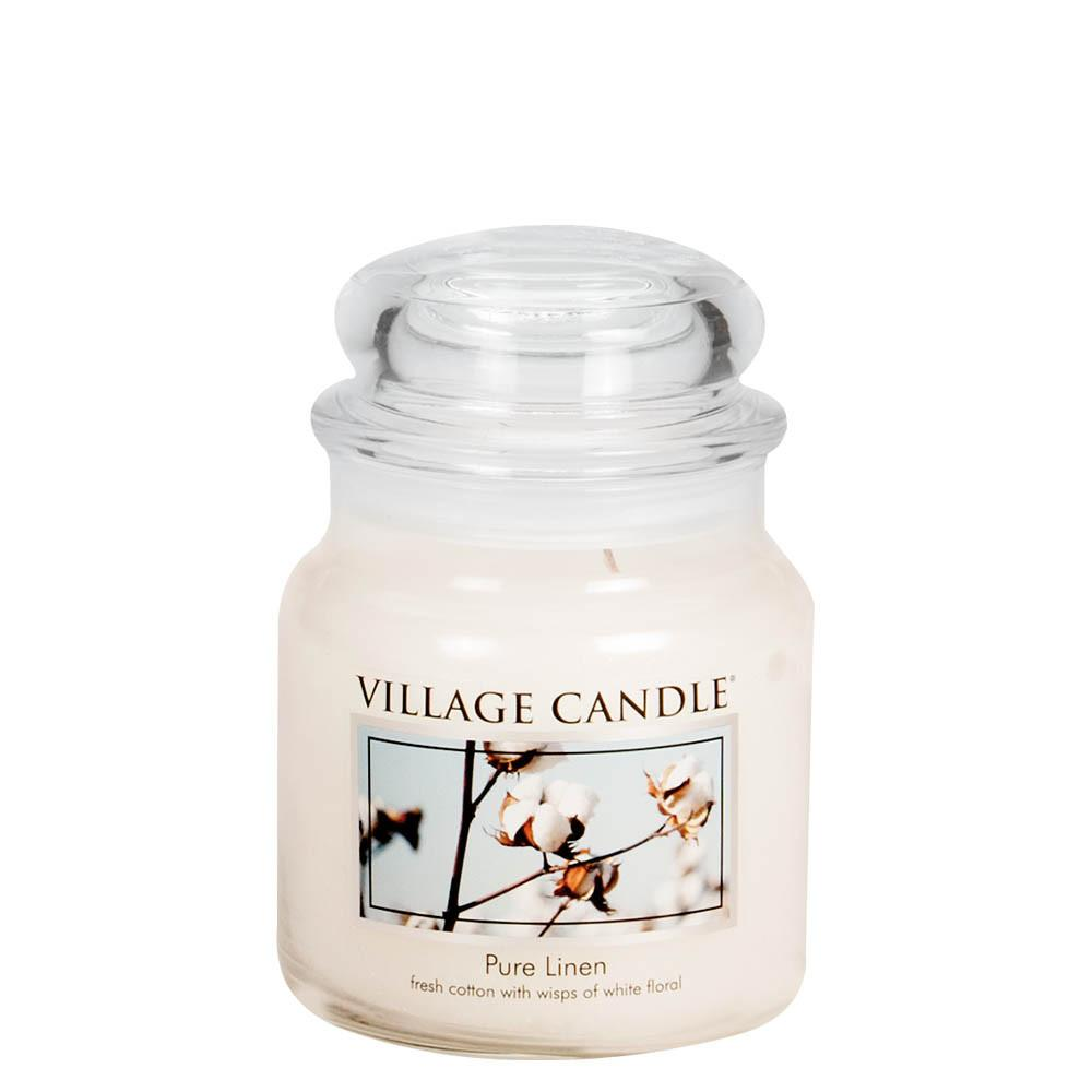 Pure Linen Medium Glass Jar Traditions Scented Candle