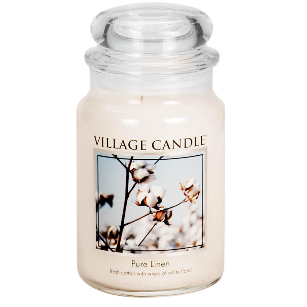 Pure Linen Large Glass Jar Traditions Scented Candle