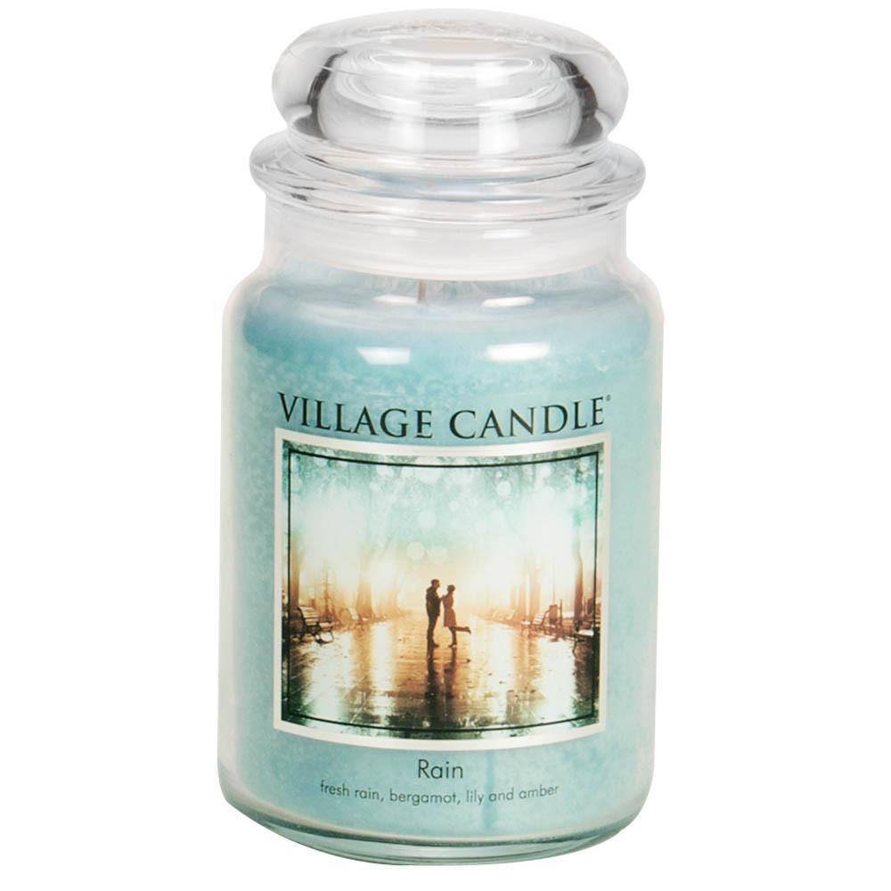 Rain Large Glass Jar Traditions Scented Candle