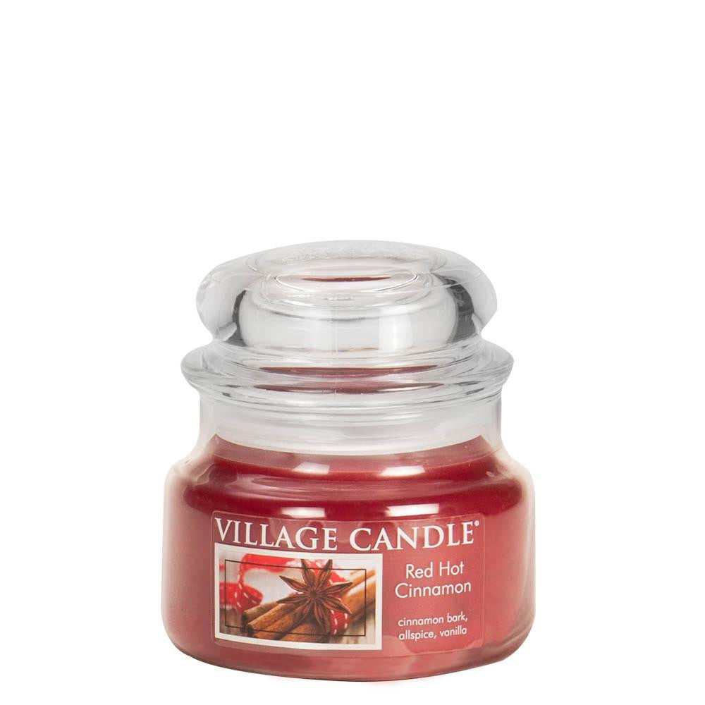 Red Hot Cinnamon Small Glass Jar Traditions Scented Candle