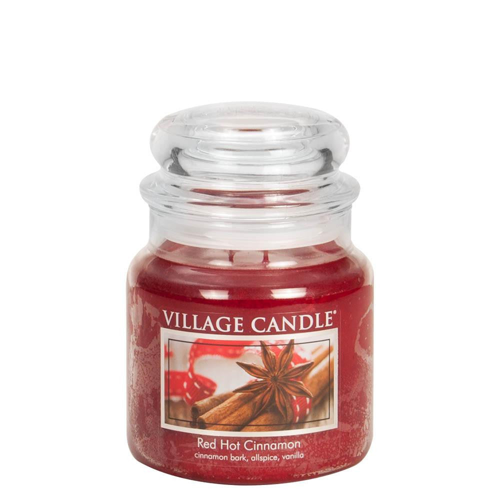 Red Hot Cinnamon Medium Glass Jar Traditions Scented Candle