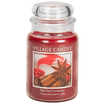 Red Hot Cinnamon Large Glass Jar Traditions Scented Candle