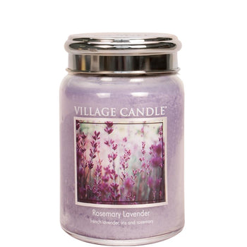 Rosemary Lavender Large Glass Jar Traditions Scented Candle