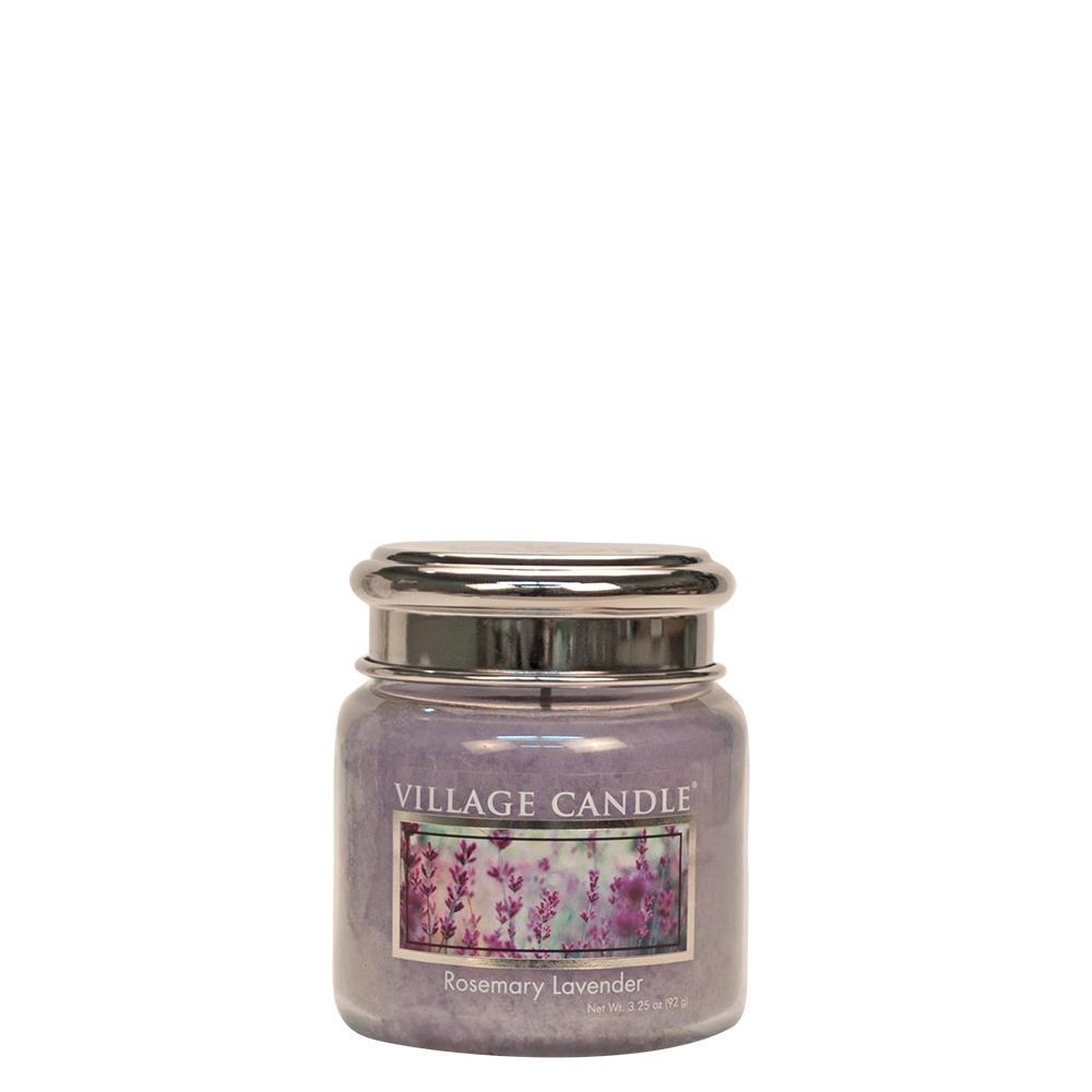 Rosemary Lavender Petite Glass Jar Metal Lid