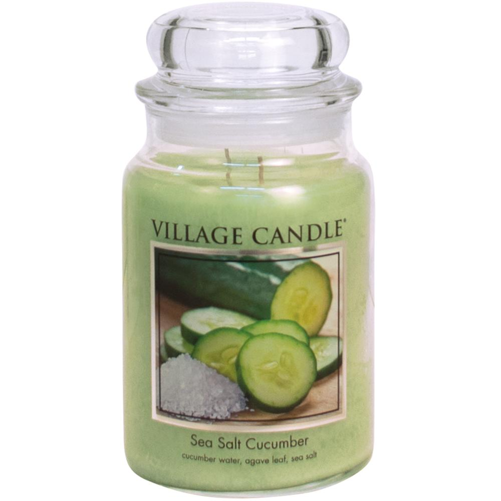 Sea Salt Cucumber Large Glass Jar Traditions Relaxing Aromatherapy