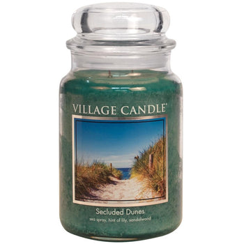 Secluded Dunes Large Glass Jar Traditions Floral Fragrance