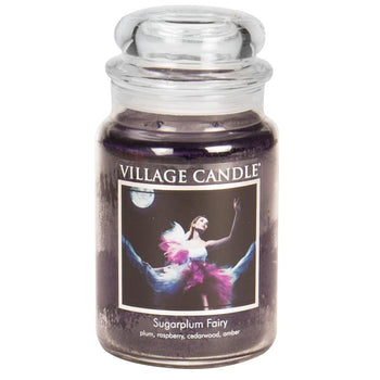 Sugarplum Fairy Large Glass Jar Traditions Scented Candle