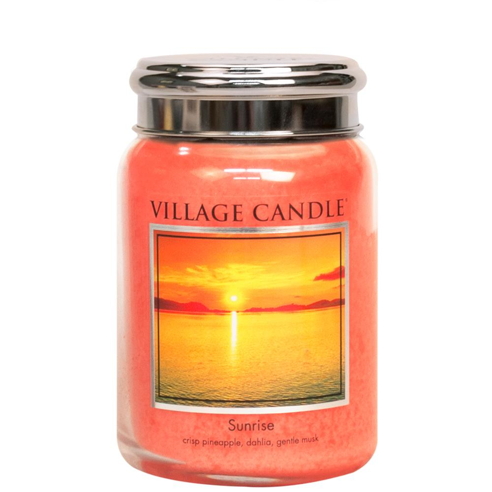 Sunrise Large Glass Jar Traditions Fresh Fragrance