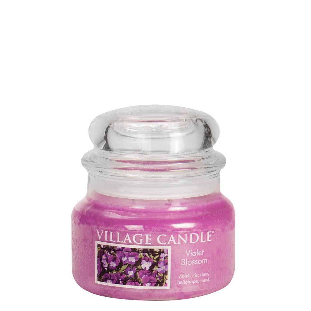 Violet Blossom Small Glass Jar Traditions Scented Candle