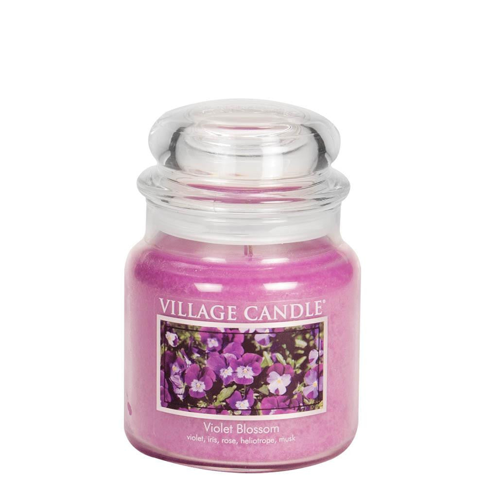 Violet Blossom Medium Glass Jar Traditions Scented Candle