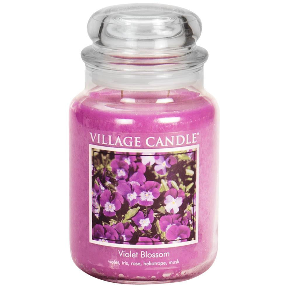 Violet Blossom Large Glass Jar Traditions