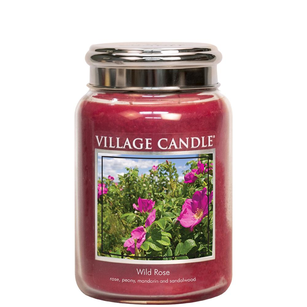 Wild Rose Large Glass Jar Traditions