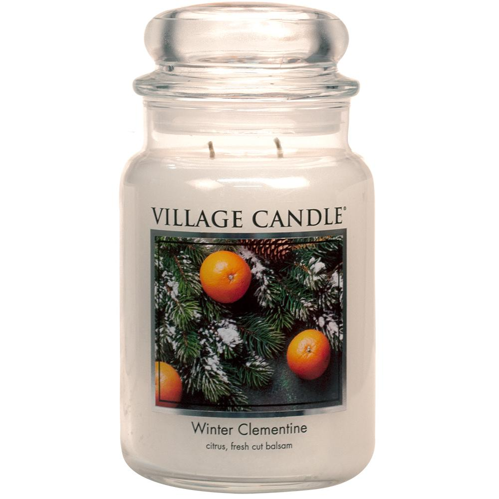 Winter Clementine Large Glass Jar Traditions