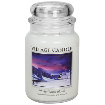 Winter Wonderland Large Glass Jar Traditions Scented Candle