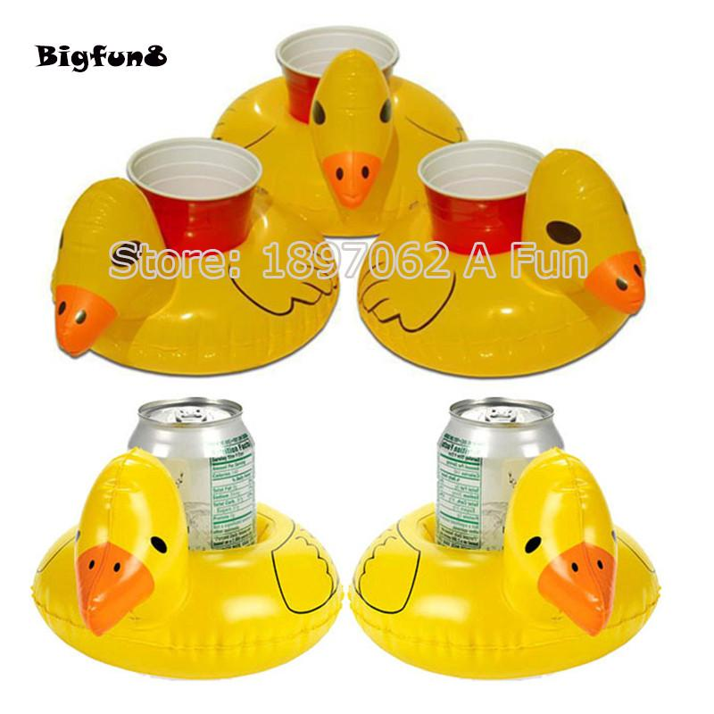 5PCS Floating Mini Duck Inflatable Cup Holders