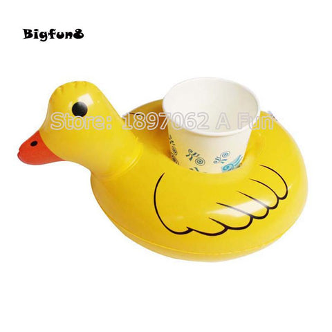 Image of 5PCS Floating Mini Duck Inflatable Cup Holders