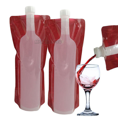 Collapsible, Reusable Portable Wine Bottle Bag 5pcs/lot (750ml)