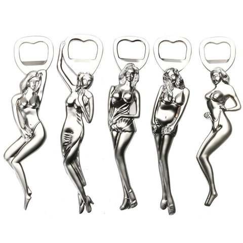 Drinkware - 4 Style Stainless Steel Sexy Girl Portable Bottle Opener