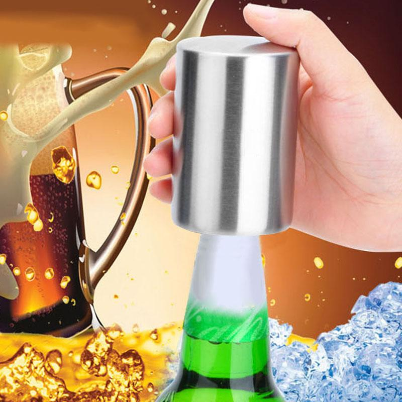 Drinkware - Stainless Steel Automatic Bottle Opener