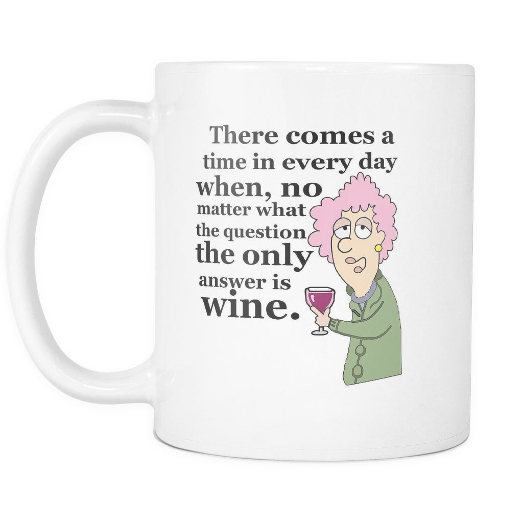 Drinkware - THE ONLY ANSWER IS WINE MUG