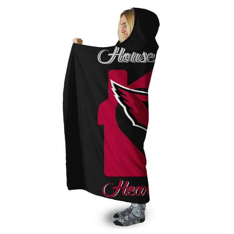 Football - AC AND OR HOUSE DIVIDED HOODED SHERPA BLANKET