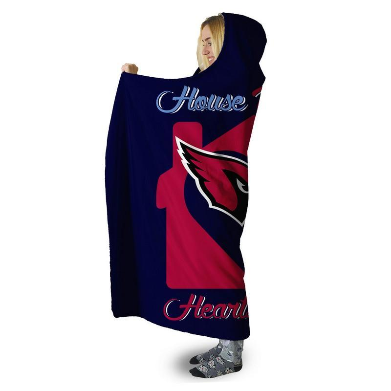 Football - AC AND TT HOUSE DIVIDED HOODED SHERPA BLANKET