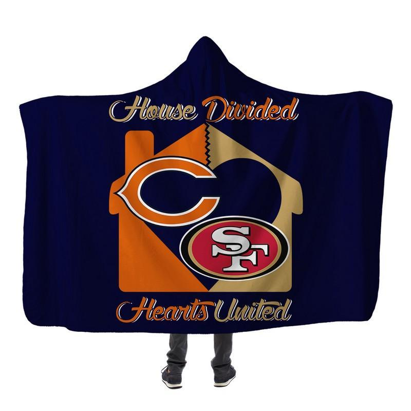 Football - CB AND SF HOUSE DIVIDED HOODED SHERPA BLANKET