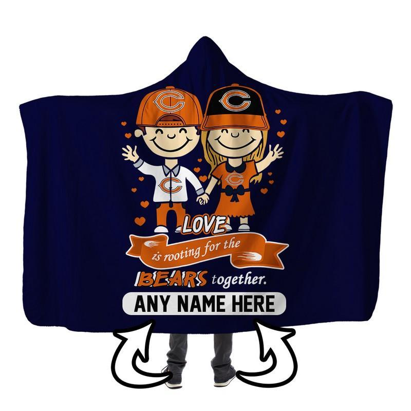 Football - CB LOVE IS PERSONALIZED SHERPA BLANKET