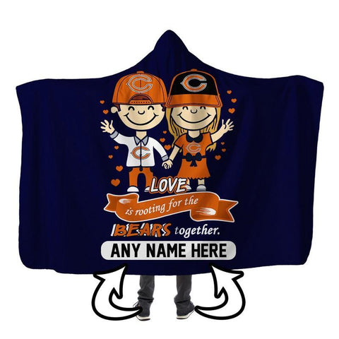 Image of Football - CB LOVE IS PERSONALIZED SHERPA BLANKET