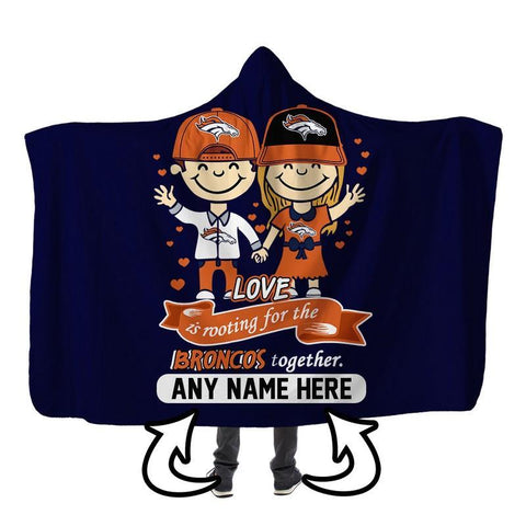 Image of Football - DB LOVE IS PERSONALIZED SHERPA BLANKET