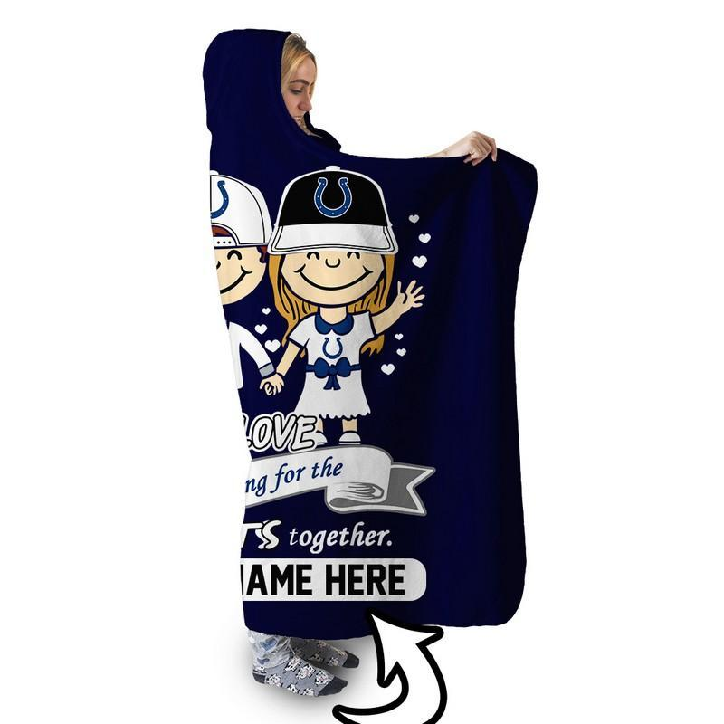 Football - IC LOVE IS PERSONALIZED SHERPA BLANKET
