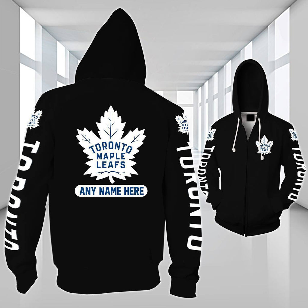 7620888ef07 3D PRINT PERSONALIZED MAPLE LEAFS ZIPPER HOODIE – AMERICAN SPORTS ...