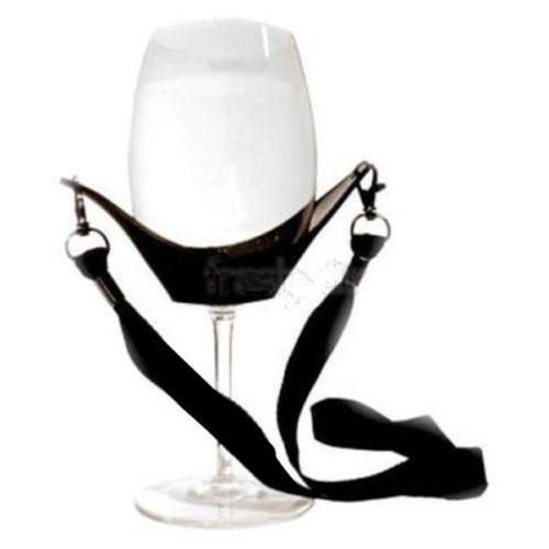 Portable Wine Glass Holder With Support Strap