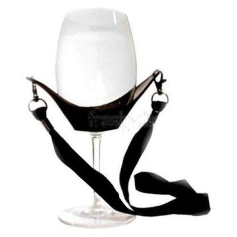 Image of Portable Wine Glass Holder With Support Strap