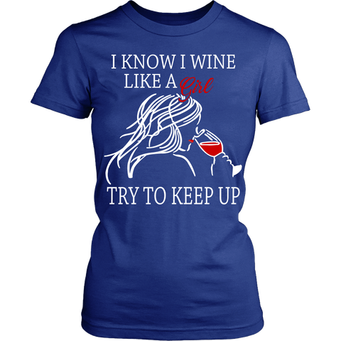 T-shirt - WINE LIKE A GIRL