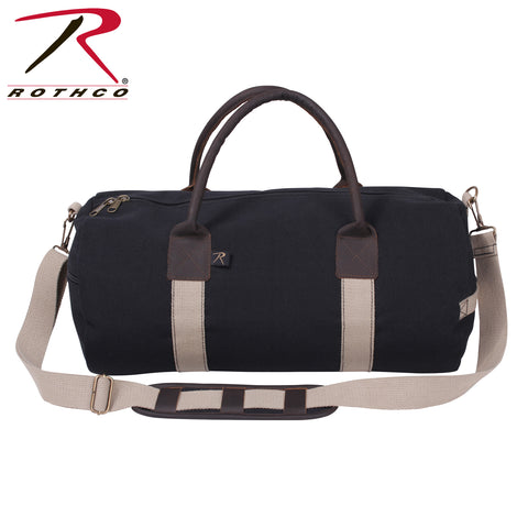 Rothco Canvas and Leather Gym Duffle Bag
