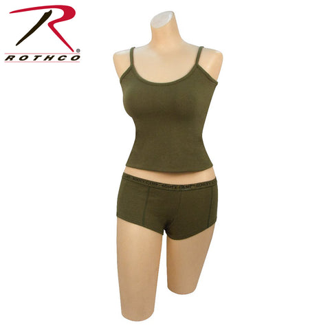 "Rothco Olive Drab ""Booty Camp"" Booty Shorts & Tank Top"