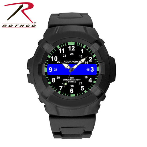 Aquaforce Thin Blue Line Police Watch