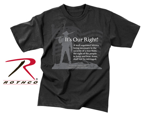Rothco Vintage ''It's Our Right'' Second Amendment T-Shirt
