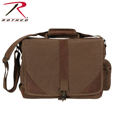 Rothco Vintage Canvas Urban Pioneer Laptop Bag with Leather Accents