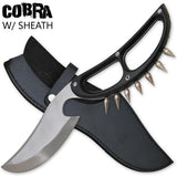 Cobra Extreme Spiked Dagger Knife With Leather Case